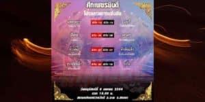 โปรแกรมการแข่งขันมวยไทย 8/4/2564